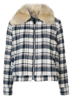 checked shearling jacket  Jenni Kayne