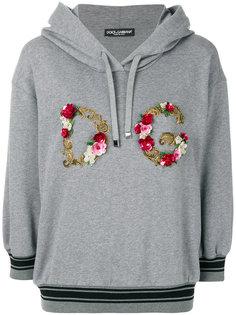 толстовка с капюшоном и аппликацией логотипа Dolce & Gabbana