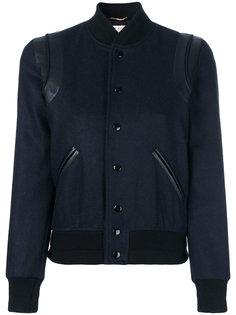 укороченная куртка-бомбер  Saint Laurent