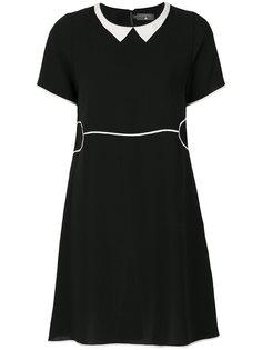 платье шифт с контрастным воротником Cotélac