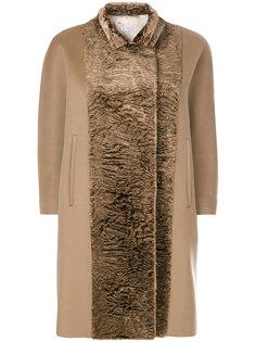 пальто с контрастными панелями Alberto Biani