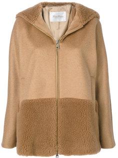 куртка с капюшоном и отделкой Max Mara