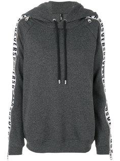 panelled sleeve zip hoodie Versus