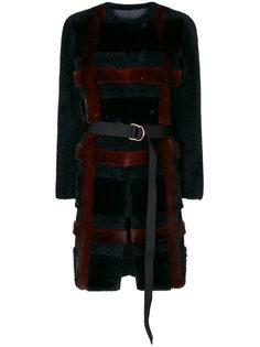 belted check jacket Blancha