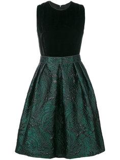 жаккардовое платье с цветочным узором  Max Mara