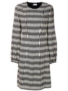 платье-миди с принтом Lanvin