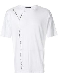 футболка с серебристой деталью Haider Ackermann