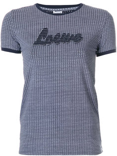 футболка в горошек с логотипом  Loewe