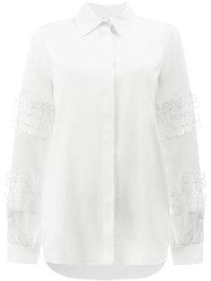 рубашка с вышивкой  Oscar de la Renta