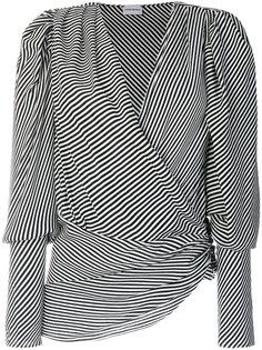 полосатая блузка с запахом Magda Butrym