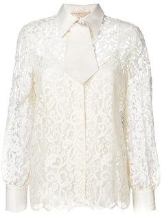кружевная блузка с вышивкой  Tory Burch