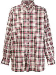 tartan slightly oversized shirt Raf Simons