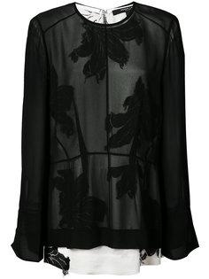 sheer floral print blouse Derek Lam