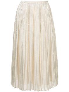 плиссированная юбка с завышенной талией  Estnation