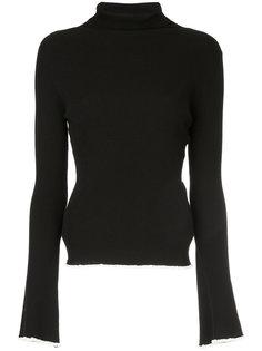 свитер слим с отворотом  Estnation