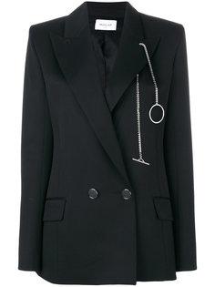 chain applique blazer  Mugler