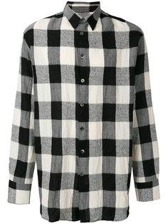 oversized check shirt Études
