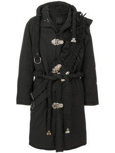 cross panel oversized hooded coat Craig Green