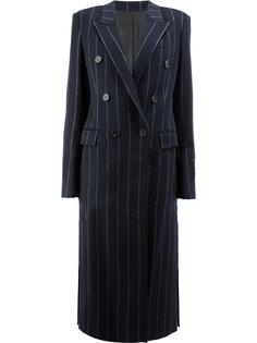 пальто в полоску с капюшоном  Juun.J