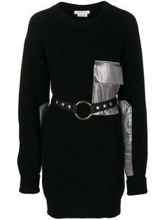 платье в рубчик с поясом  Alyx
