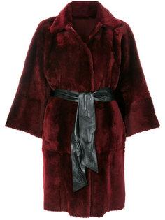пальто с поясом  Drome