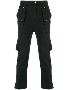 брюки с подтяжками Helmut Lang