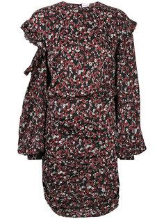 платье с цветочным принтом и вырезом  Magda Butrym
