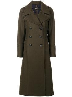 длинное двубортное пальто  Paltò