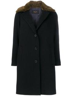 пальто с контрастным воротником  Paltò