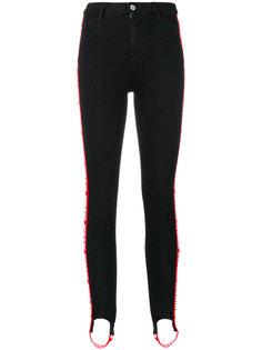 брюки с завышенной талией и логотипом  MSGM