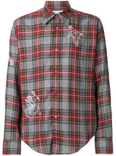 рубашка в шотландскую клетку с вышивкой Stella McCartney