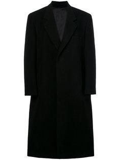 concealed V-neck coat Raf Simons