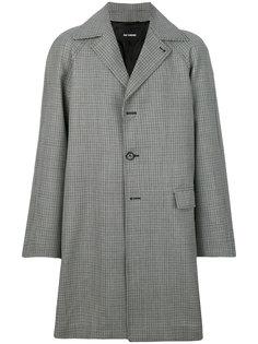 однобортное пальто в клетку Raf Simons