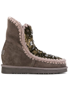 rhinestone embellished Eskimo boots Mou