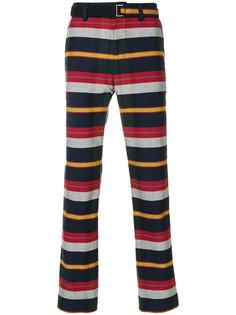 брюки в полоску Sacai
