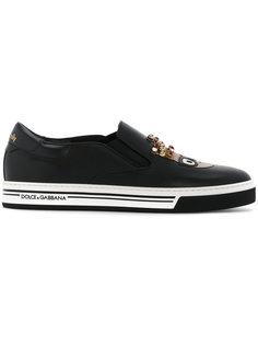 кроссовки с аппликациями в виде дизайнеров Dolce & Gabbana