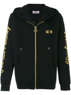 толстовка на молнии с вышивкой логотипа Gcds