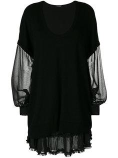 присборенное полупрозрачное платье  Twin-Set