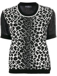 блузка с леопардовым узором Salvatore Ferragamo
