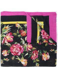 шарф с цветочным узором Dolce & Gabbana