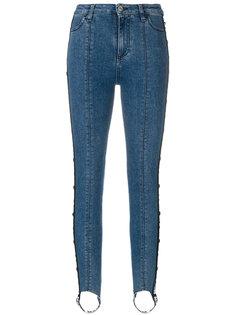 джинсы скинни с полосками по бокам  MSGM