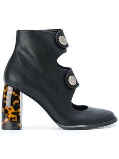 ботинки с ремешками на контрастном каблуке Stella McCartney