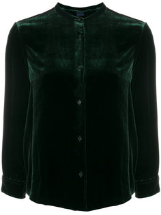 бархатная блузка без воротника  Aspesi