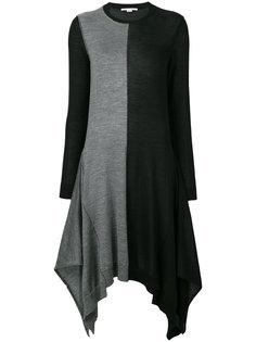 асимметричное платье колор блок  Stella McCartney