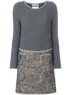 кашемировое платье Moschino