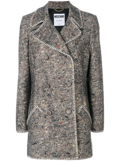 пальто букле с декоративной строчкой  Moschino