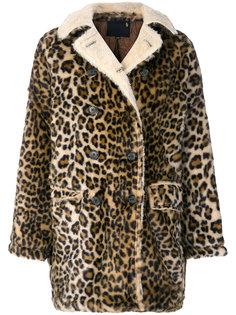 пальто с леопардовым принтом  R13