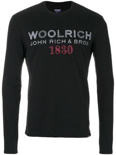 свитер с принтом логотипа Woolrich