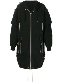 стеганое пальто-бомбер Balmain
