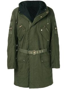 пальто-карго с капюшоном Balmain